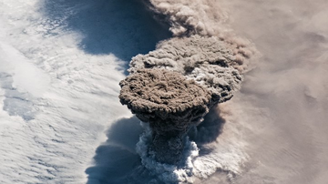 Weird, Odd and Bizarre News - NASA Releases Spectacular Photo of Erupting Volcano