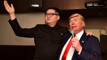 None - Trump & Kim Jong Un impersonators perform in Osaka during G20