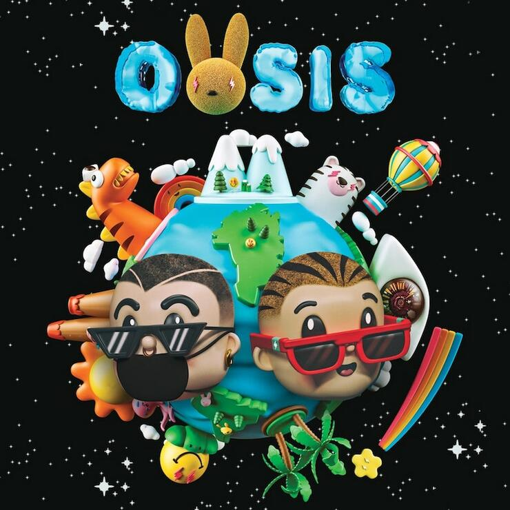 Bad Bunny & J Balvin - 'Oasis' Album Cover Art