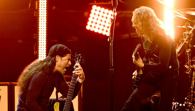 "See Metallica's Robert Trujillo, Kirk Hammett Cover Iron Maiden's ""Killers"""