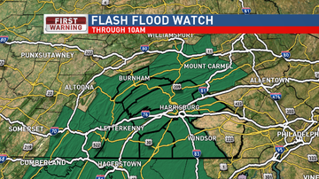 Reading and Harrisburg Breaking News - Flash Flood Watch This Morning
