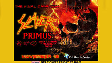 None - Slayer Coming To Omaha in November!
