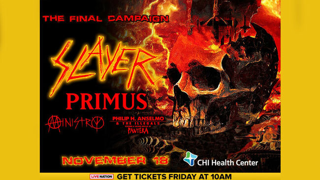 Slayer Coming To Omaha in November!