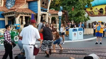 Weird News - Shocking Video Captures Violent Fight Between Adults At Disneyland