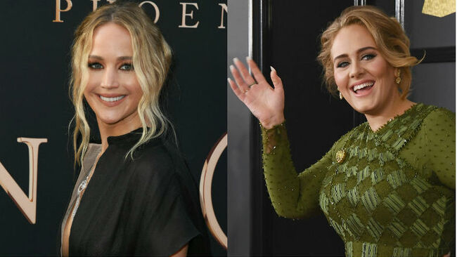 Jennifer Lawrence, Adele