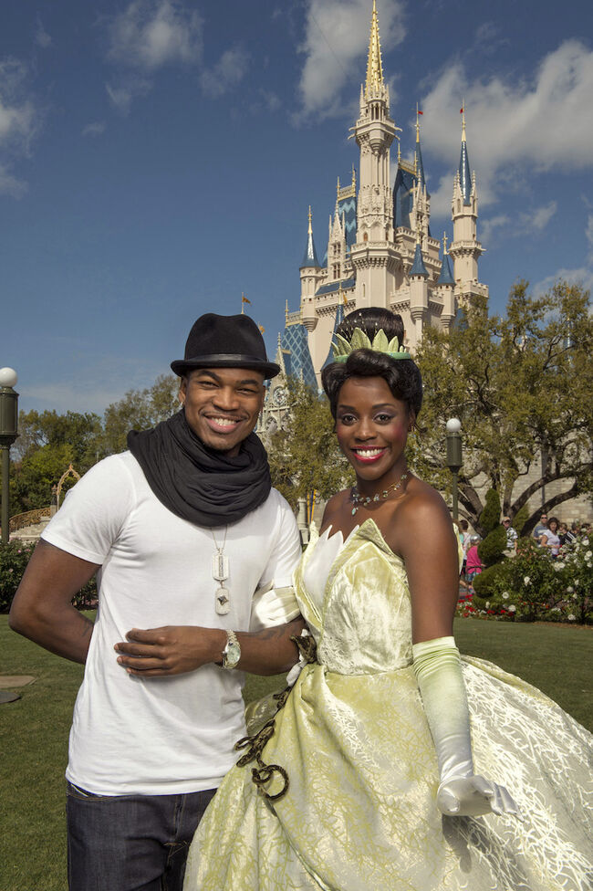 Ne-Yo Visits Disney World In Florida