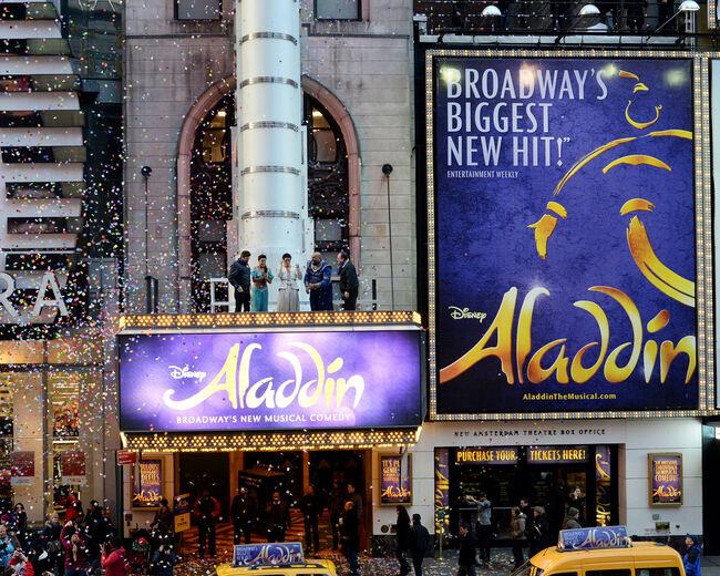 Times Square Prepares For 2015 - Confetti Test