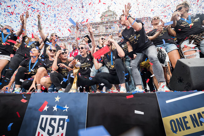 U.S. Women's National Team World Cup Champions Ticker Tape Parade