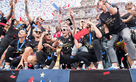 Sports Top Stories - 15 Epic Photos From The U.S. Women's Team World Cup Victory Parade