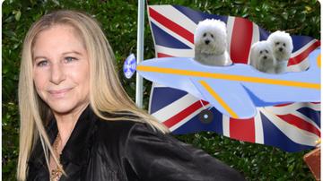 BC - Barbra Streisand Flew Her Dogs To London To Watch Her Perform