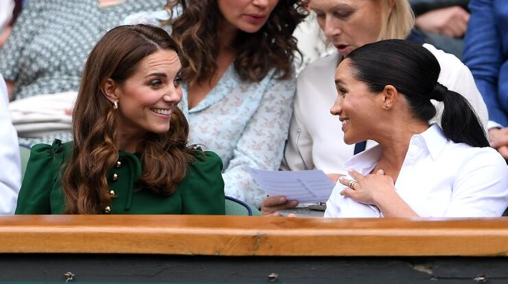 Meghan Markle, Kate Middleton Squash Feud Rumors With Wimbledon Outing | iHeartRadio