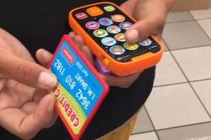 Woman Tries to Pay With Toy Credit Card and Phone