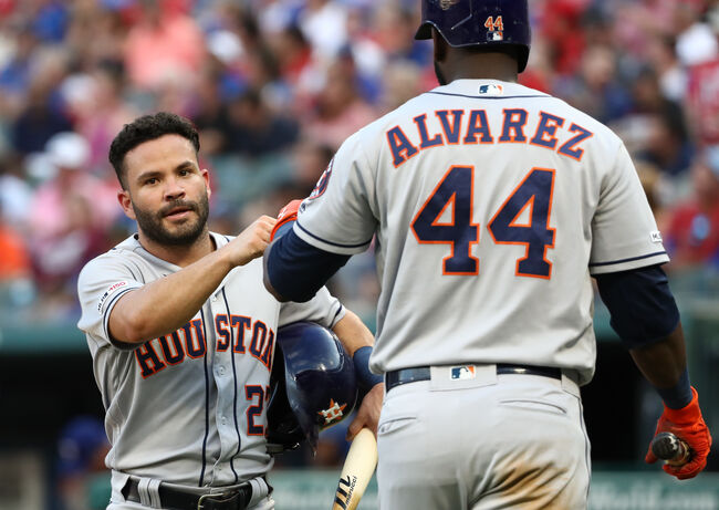 Altuve's Four Hit Night Helps Astros to Extra Innings Win Over Rangers
