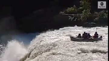 Beth Bradley - Group goes over falls after ignoring multiple signs not to proceed.
