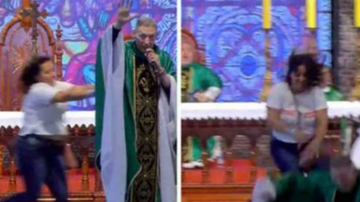 Chuck Dizzle - Woman Throws A Priest Off Stage During Charity Mass