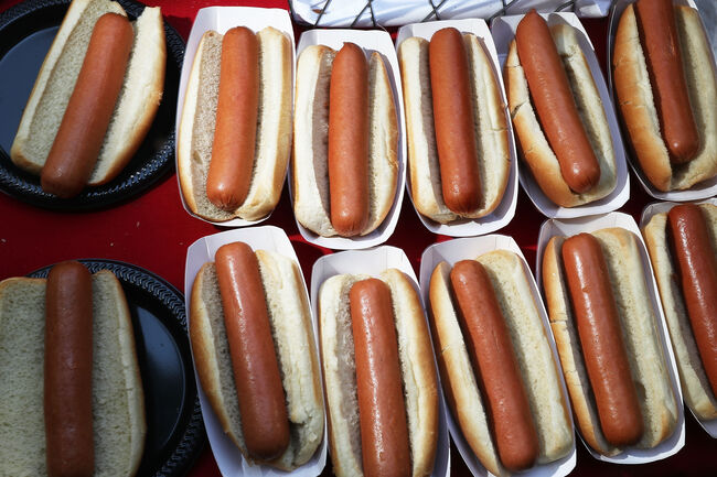 Annual Hot Dog Lunch Held For Lawmakers On Capitol Hill