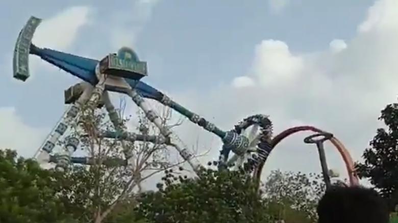 Video Shows Pendulum Ride Breaking At Amusement Park ...