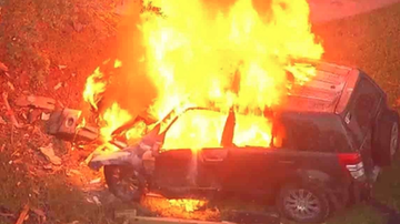 Qui West - 13 Year Old Boy Leads Police On Chase That Ends In Fiery Crash!