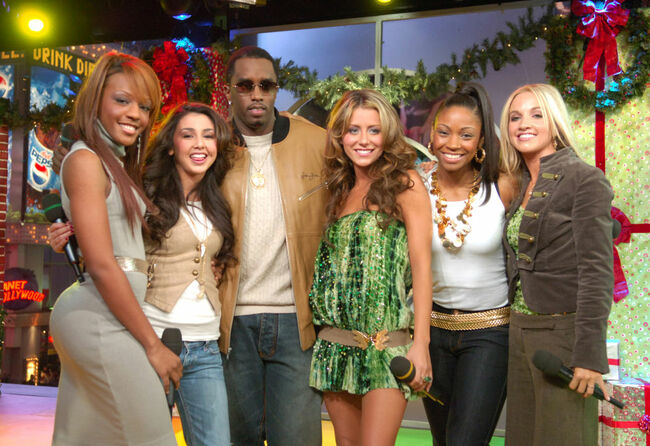 "Sean ""Diddy"" Combs and His ""Making the Band 3"" Girls Vist MTV's ""TRL"" - December 20, 2005"