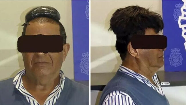 Man accused of smuggling cocaine under his toupee