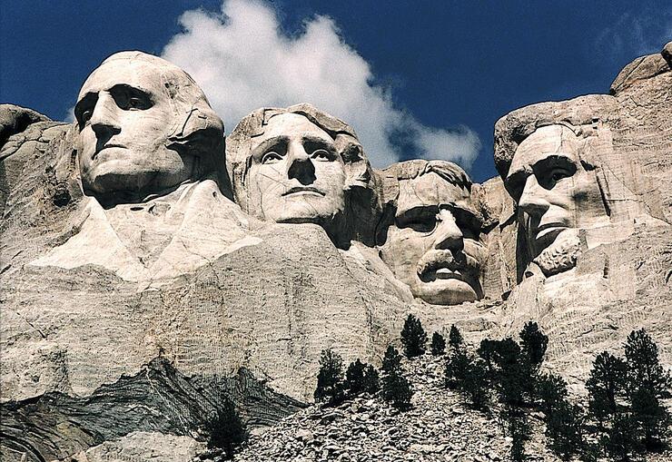 This June 1995 photo shows Mt. Rushmore,
