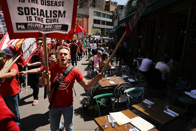 May Day March Takes Place In New York City