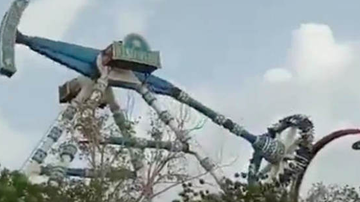 Qui West - 2 Killed & Over 28 Injured In After Amusement Park Ride Snaps In Half!