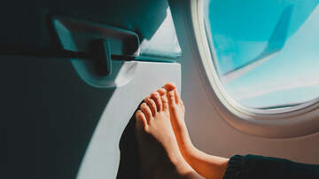 The Paul Castronovo Show - Viral Video: Man Uses Feet To Swipe Through In-Flight Entertainment