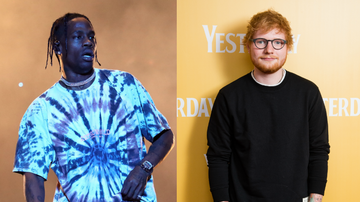 Entertainment News - Travis Scott Invites Ed Sheeran To His Show For Live Debut Of New Collab