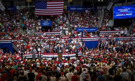 Politics - Crowd Chants 'Send Her Back' At Trump Rally in North Carolina