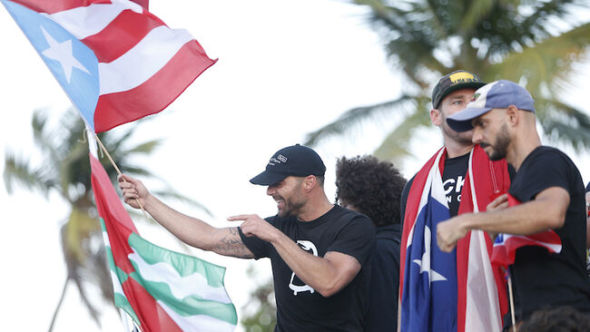 Protesters Demand The Resignation Of Puerto Rico's Governor Ricardo Rossello