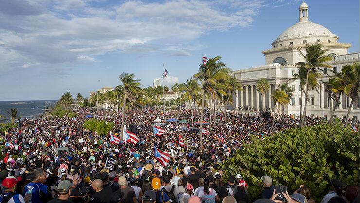 Protesters Demand The Resignation Of Puerto Rico's Governor Ricardo Rossello