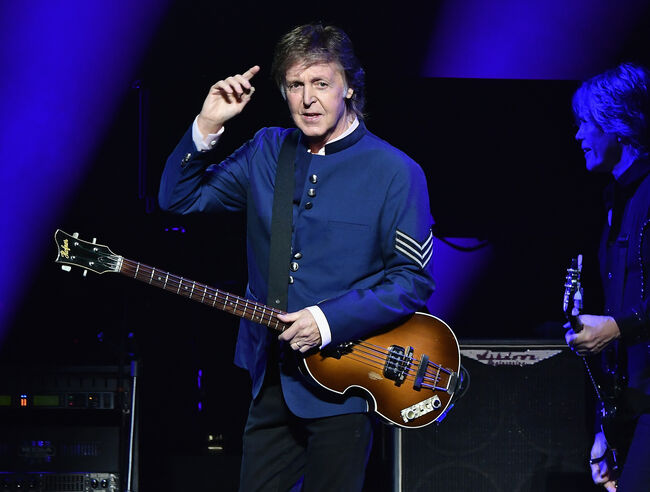 Paul McCartney In Concert-getty images