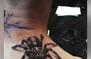 Hitman - This 3D Spider Tattoo is Amazing!