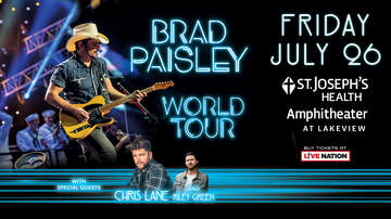 Contest Rules - Win a Four Pack of tickets to Brad Paisley, with a potential upgrade!