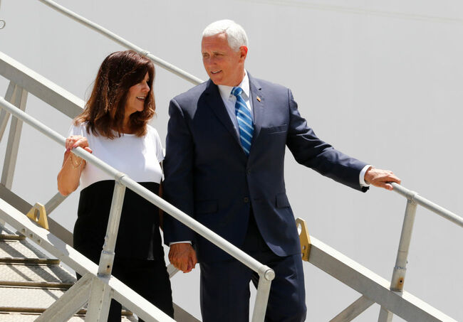 Vice President Pence Discusses Mission Of U.S. Navy Hospital Ship USNS Comfort To South And Central America