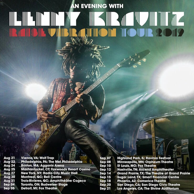 Lenny Kravitz Added Tour Dates 2019