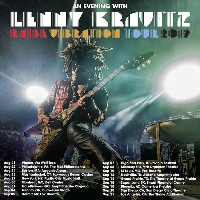 Lenny Kravitz Added Tour Dates 2019