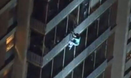 Weird News - Man Escapes Burning Building By Climbing Down Balconies Like Spider-Man