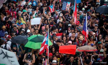National News - Puerto Rico Protesters Flood Streets Demanding Governor's Resignation