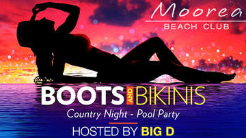Buzzing Vegas - Boots & Bikinis Pool Party at Moorea Beach Club - Hosted By Big D