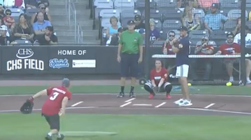 The Common Man - WATCH: Adam Thielen Took The Common Man DEEP In Celebrity Softball Game!