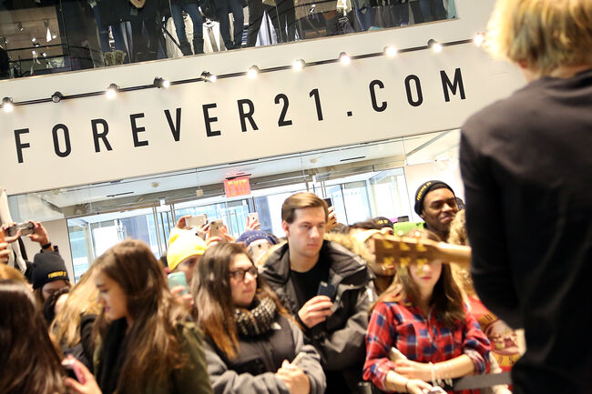 Forever 21 Fifth Avenue New York Store Opening