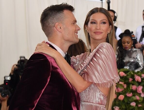 Tom Brady and wife Gisele at the Met Gala in New York City.