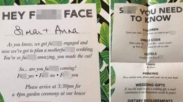 Klinger - Couple Slammed For Trashy Wedding Invites Riddled w/Swearing