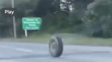 The Jim Colbert Show - Final Destination Type Sh*t: Tire Rolling Down Highway Then This Happens!