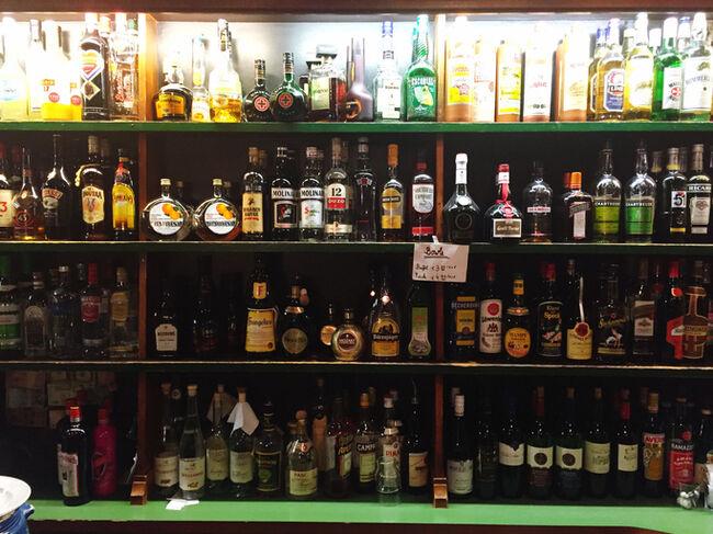 Bottles Arranged In Liquor Store