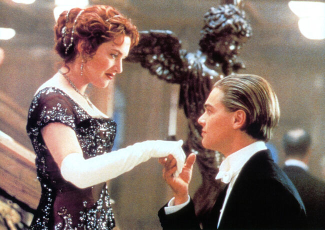 Kate Winslet And Leonardo DiCaprio In 'Titanic'