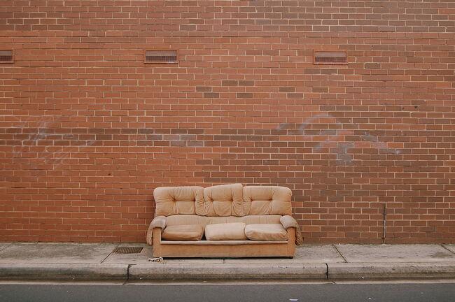 Sofa on street