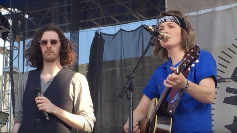 Hozier Brings Out Brandi Carlile To Perform 'The Joke' At Newport Folk Fest